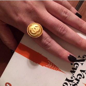 Diy Chanel Button Ring Allfreejewelrymaking Com