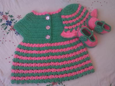 Crochet Baby Winter Dress Pattern : Crochet Baby Dress AllFreeCrochet.com