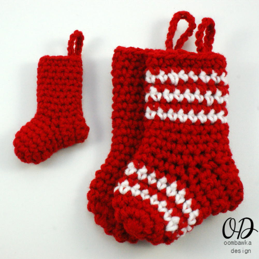 Little Christmas Stockings | AllFreeCrochet.com