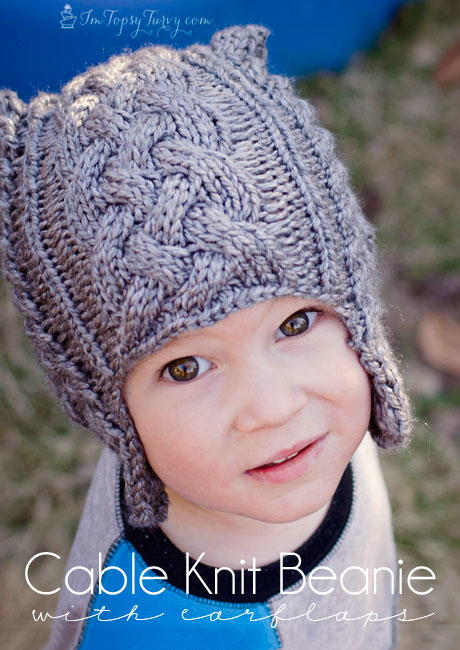 Child S Cable Knit Beanie Allfreeknitting Com