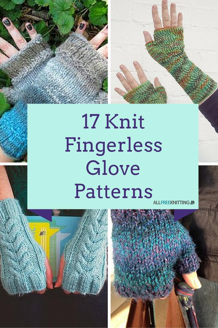 Knitting Patterns Uk Fingerless Gloves : Knit fingerless glove patterns allfreeknitting