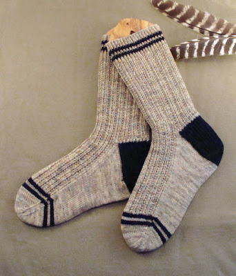 Men S Twin Rib Knit Sock Pattern Allfreeknitting Com
