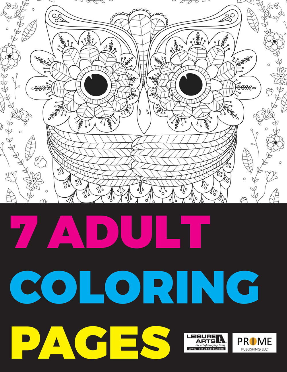 The coloring book e book - 7 Adult Coloring Pages Free Ebook