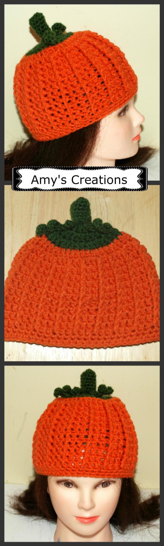 All Sizes Crochet Pumpkin Hat Allfreecrochet Com