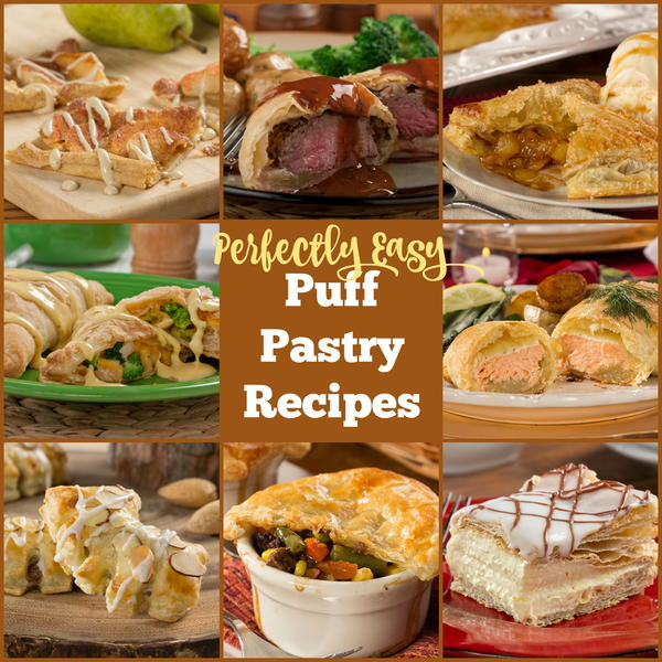 Easy recipes for puff pastry dough
