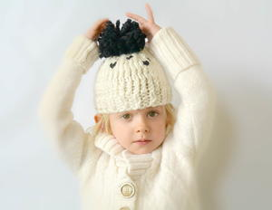 Adorable Chunky Pom Knit Toddler Hat Pattern