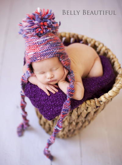 Knit Stitch Only Baby Hat : Garter Stitch Earflap Hat Pattern AllFreeKnitting.com