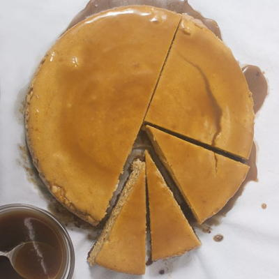 Pumpkin Cheesecake with Bourbon Caramel Sauce | FaveGlutenFreeRecipes ...