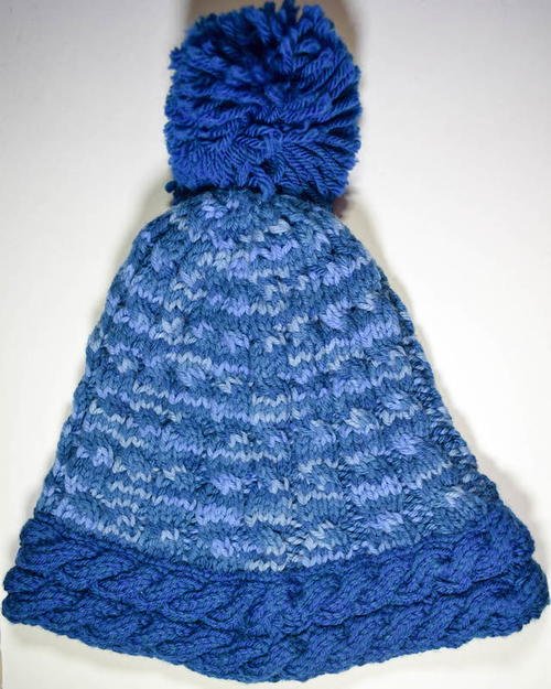 Knitting A Hat In The Round On Circular Needles : On the slopes knit hat allfreeknitting