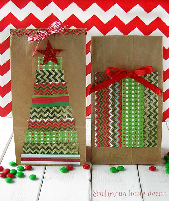 Christmas Tree Paper Gift Bags | FaveCrafts.com