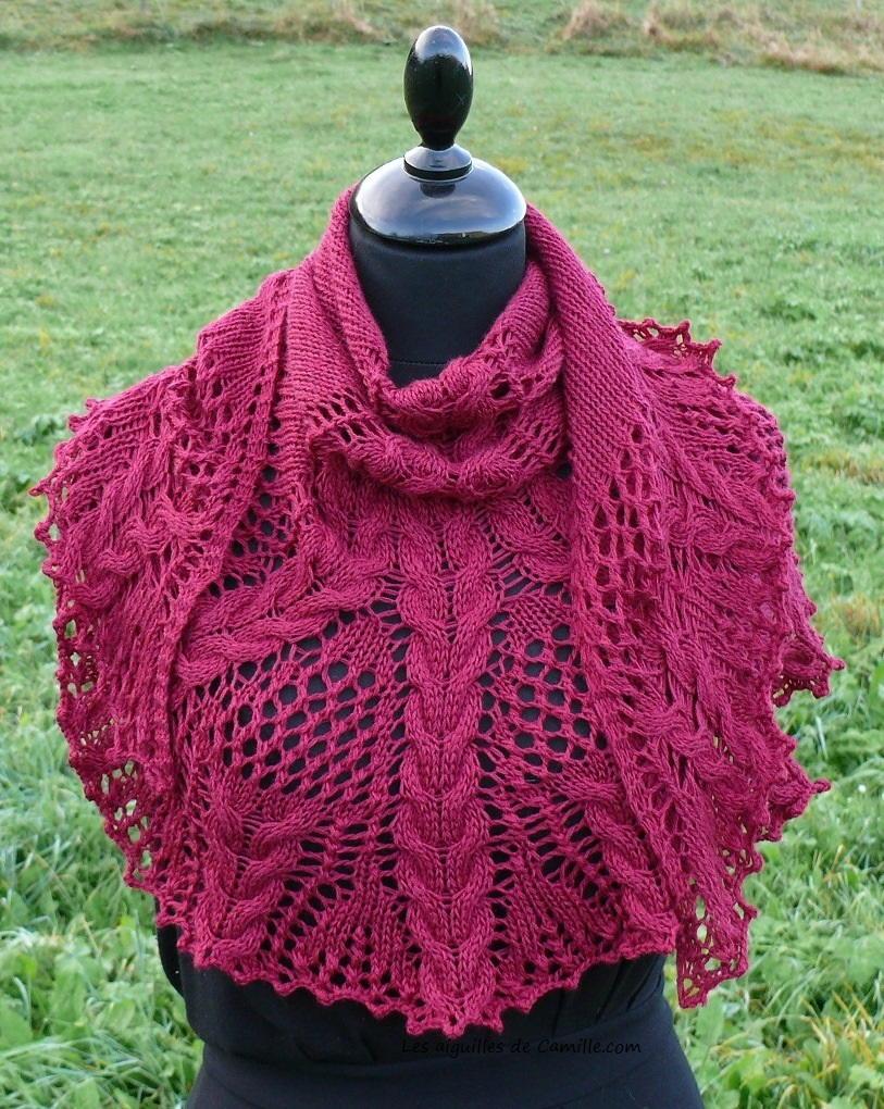 Knitting Shawl Design : Croeso knit shawl allfreeknitting