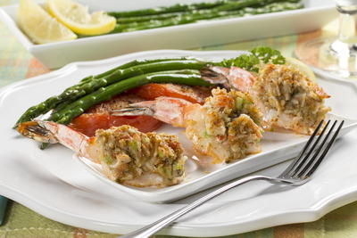 Baked Overstuffed Shrimp