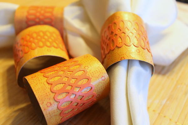 67 Best Images About Napkin Rings Menu Cards On: Lacy Toilet Paper Roll Napkin Rings For Thanksgiving