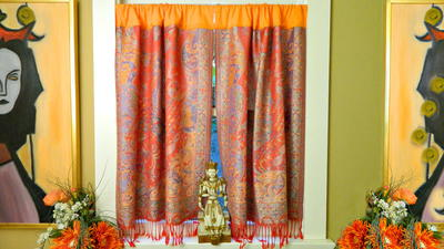 How to Make No Sew Boho Curtains