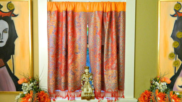 How To Make No Sew Boho Curtains Diyideacenter Com