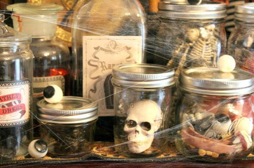 DIY Halloween Spooky Lab Jars