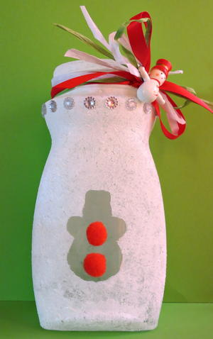 Recycled Glass Jar Christmas Lantern