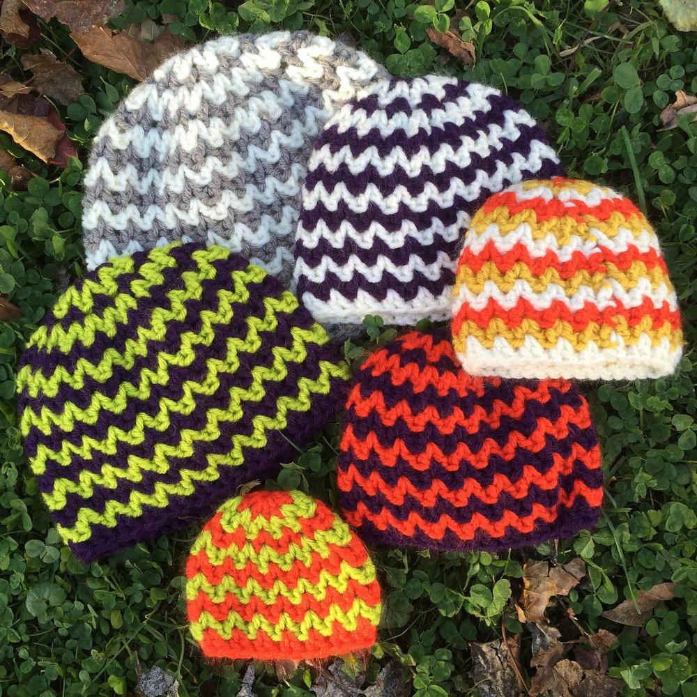 Quick And Simple Crocheted Chevron Hat Allfreecrochetcom