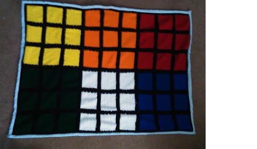 Rubik S Cube Throw Allfreecrochet Com
