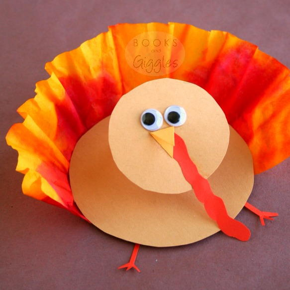 3D Coffee Filter Turkey Craft