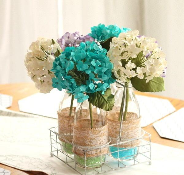 Simple Rustic Wedding Ideas: Delightfully Simple Rustic Centerpiece