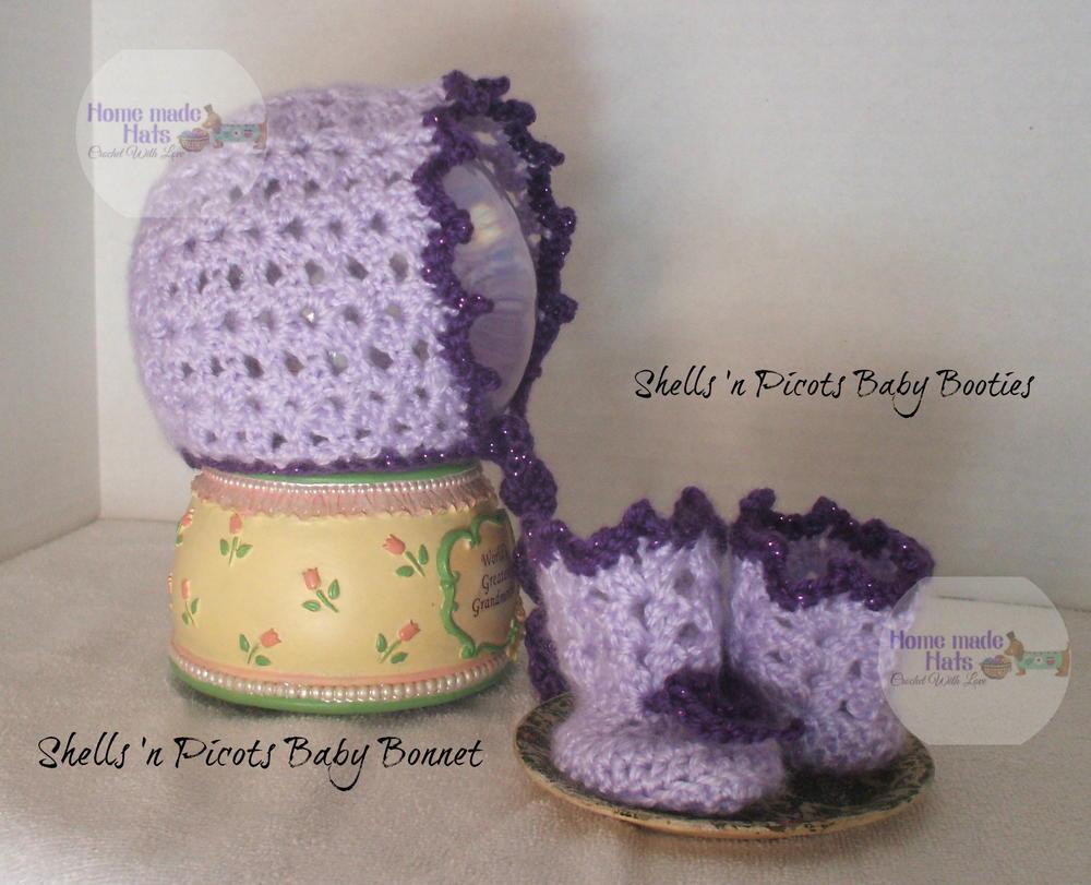 Shells n Picots Baby Bonnet AllFreeCrochet.com