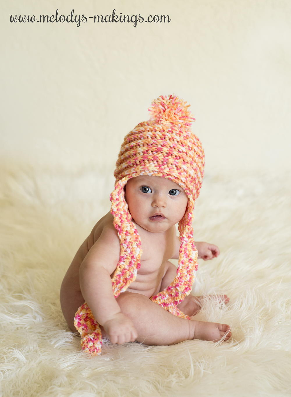 9281d6a498e Spins and Ridges Earflap Crochet Baby Hat