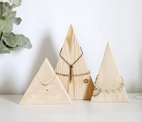 Wood Mountains Diy Necklace Holder Allfreejewelrymaking Com