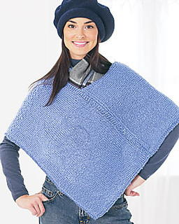 Free Knitting Pattern For A Poncho : Two Piece Knit Poncho Pattern FaveCrafts.com