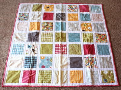 Make Life Square Baby Quilt