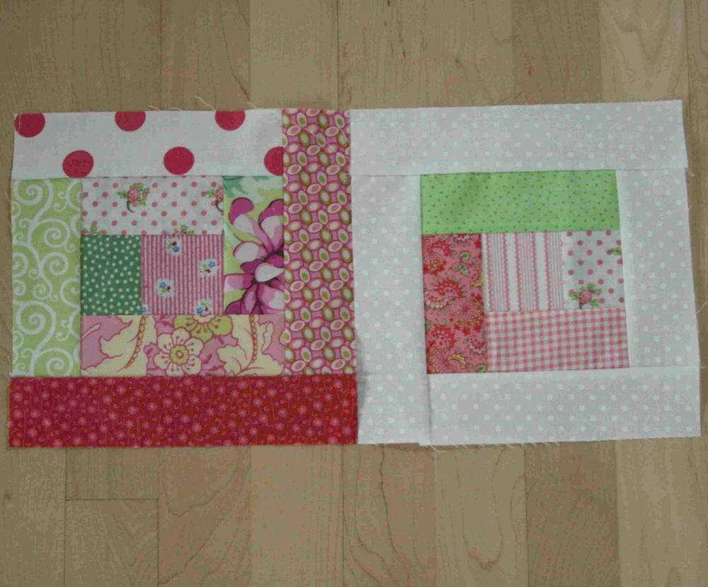 Scrappy Log Cabin Quilt Blocks Favequilts Com