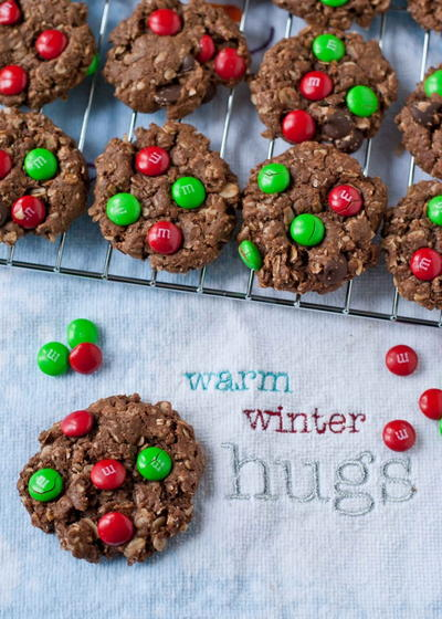 Chocolate Christmas Monster Cookies | FaveGlutenFreeRecipes.com