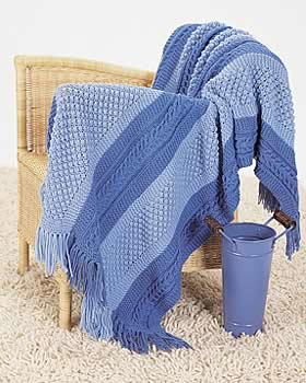 Patterned Blue Shades Blanket