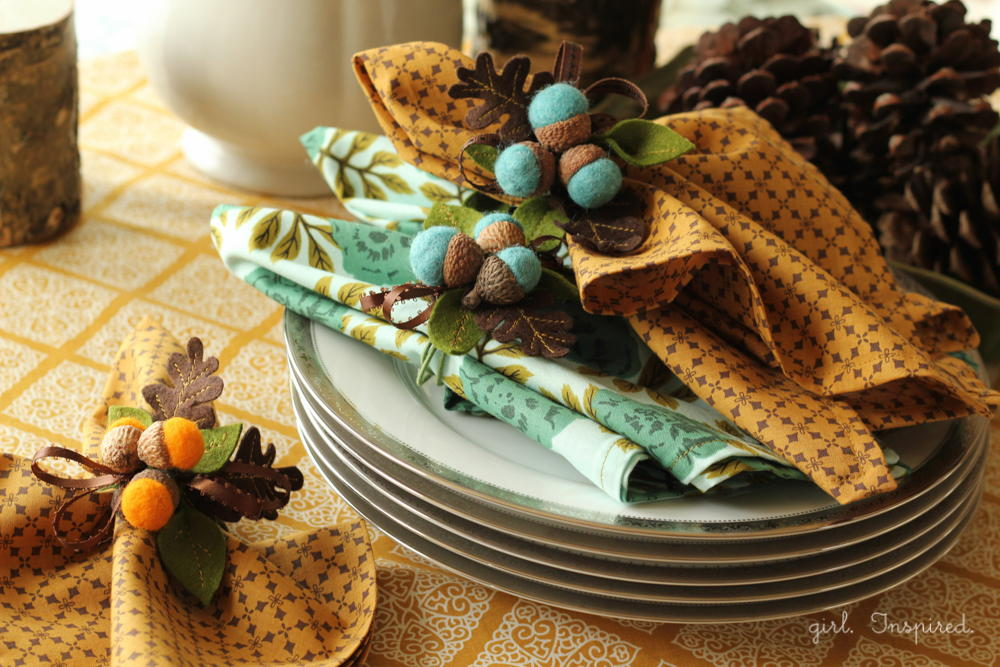 Festive Fall Thanksgiving Napkins Allfreesewing Com