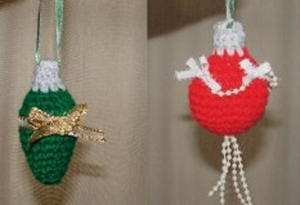 Crochet Lightbulb Ornaments
