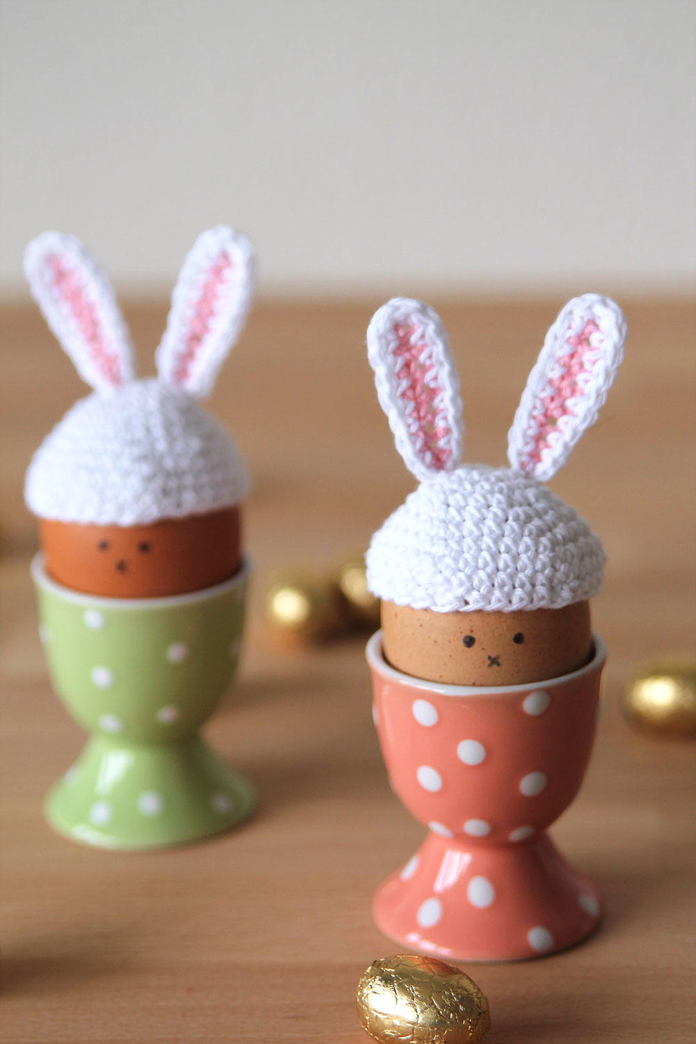 Tiny Crochet Easter Egg Bunny Hats