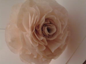 Faux Vintage Coffee Filter Flowers