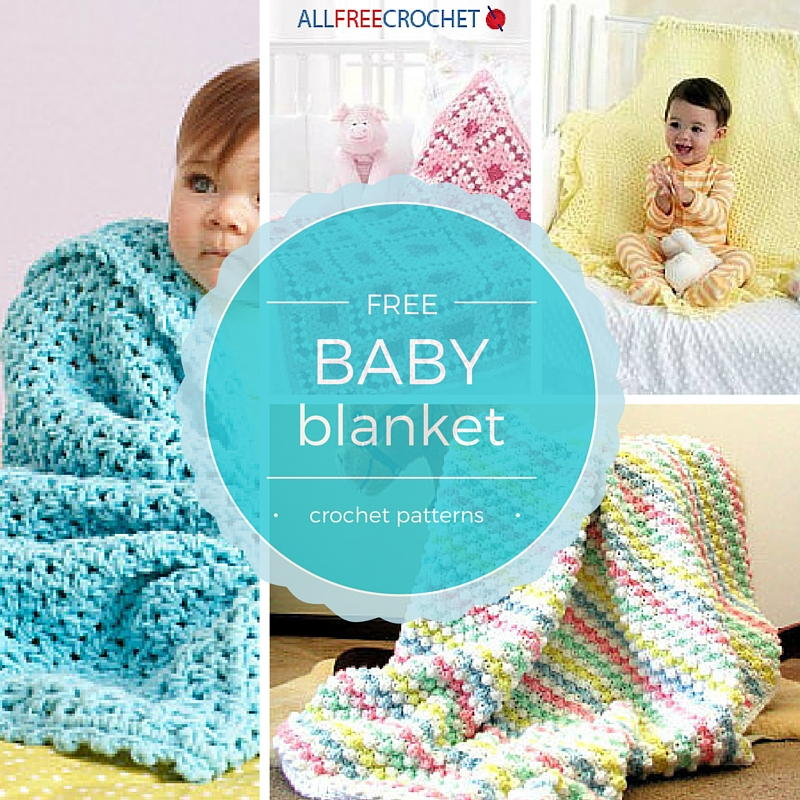 50 Free Crochet Baby Blanket Patterns AllFreeCrochetcom