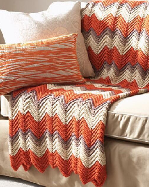 Crochet Pattern For Large Afghan : Ripple Afghan Crochet Pattern FaveCrafts.com