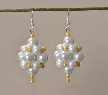 Pearl Ball Bridal Earrings Allfreejewelrymaking Com