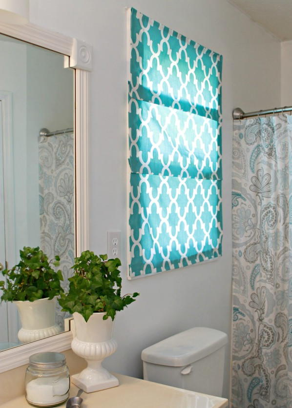 Easy No Sew Roman Shades Diyideacenter Com