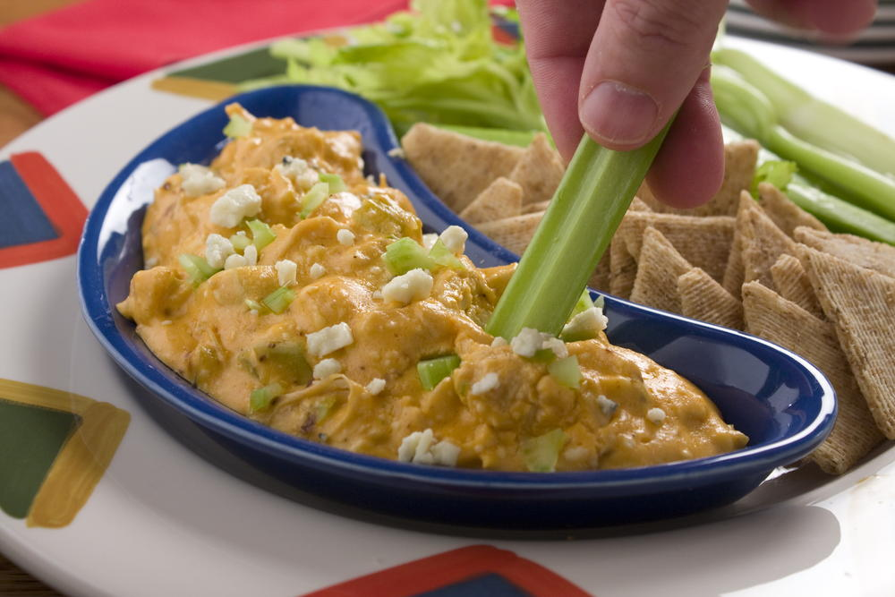 Cheesy Buffalo Chicken Dip | MrFood.com