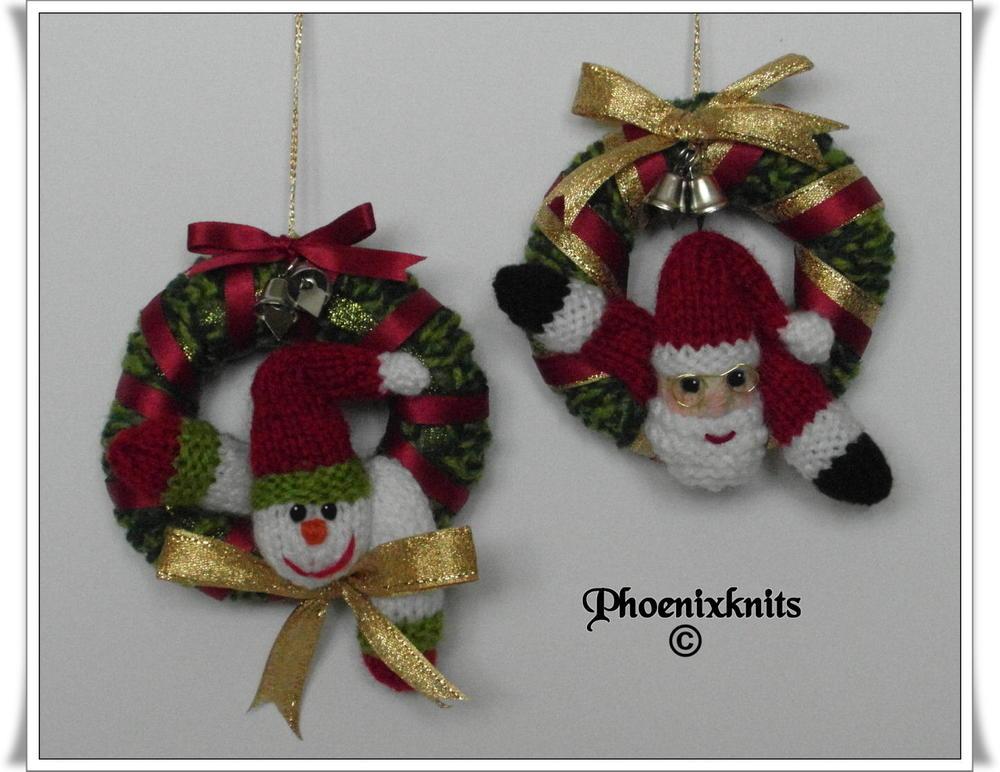 Santa Snowman Mini Christmas Wreath