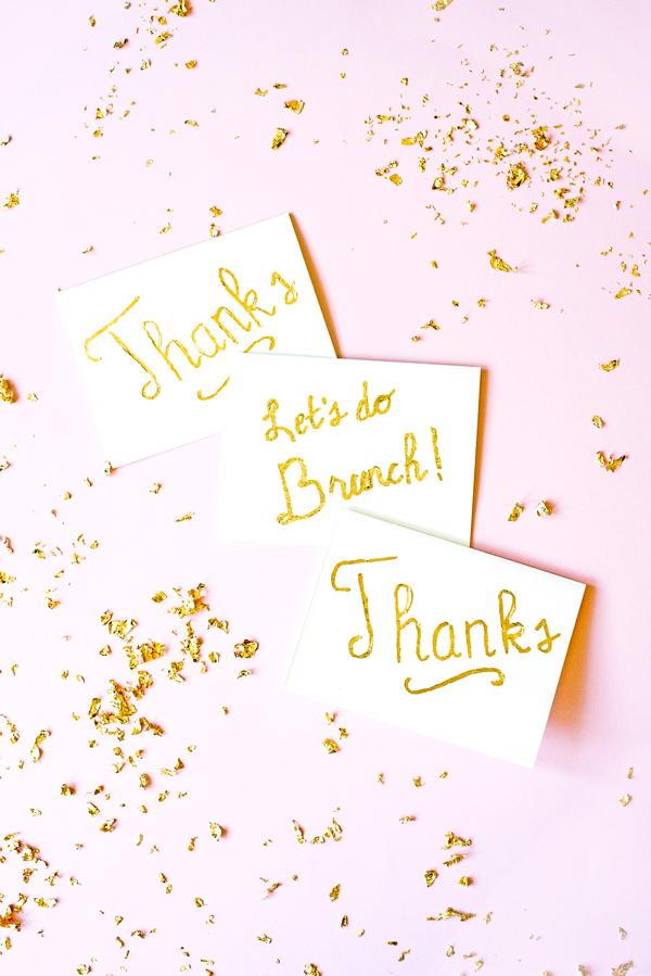 Easy Gilded Gold Leaf Greeting Cards AllFreePaperCrafts.com
