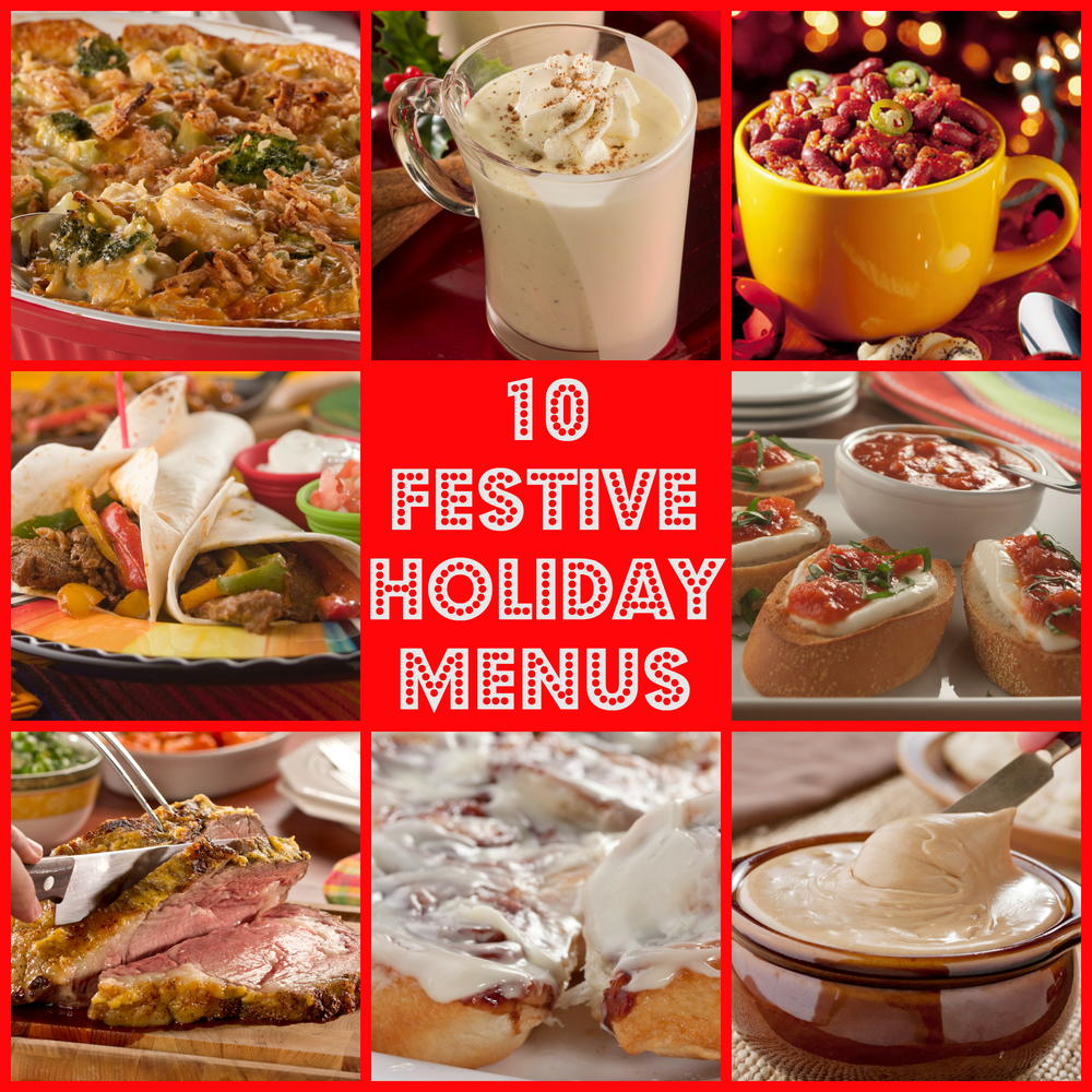 10 Festive Holiday Menus For Christmas More