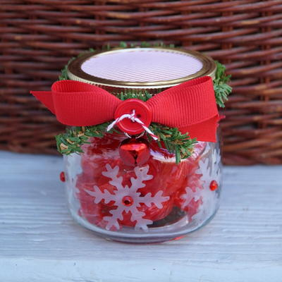 Snowflake Candy Jar