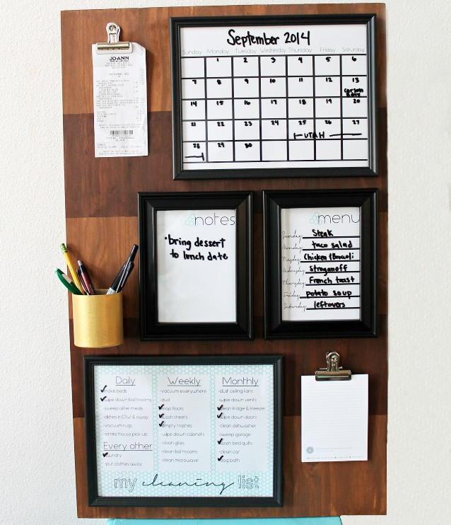 Brilliant Office Organization Ideas: DIY Organization Board