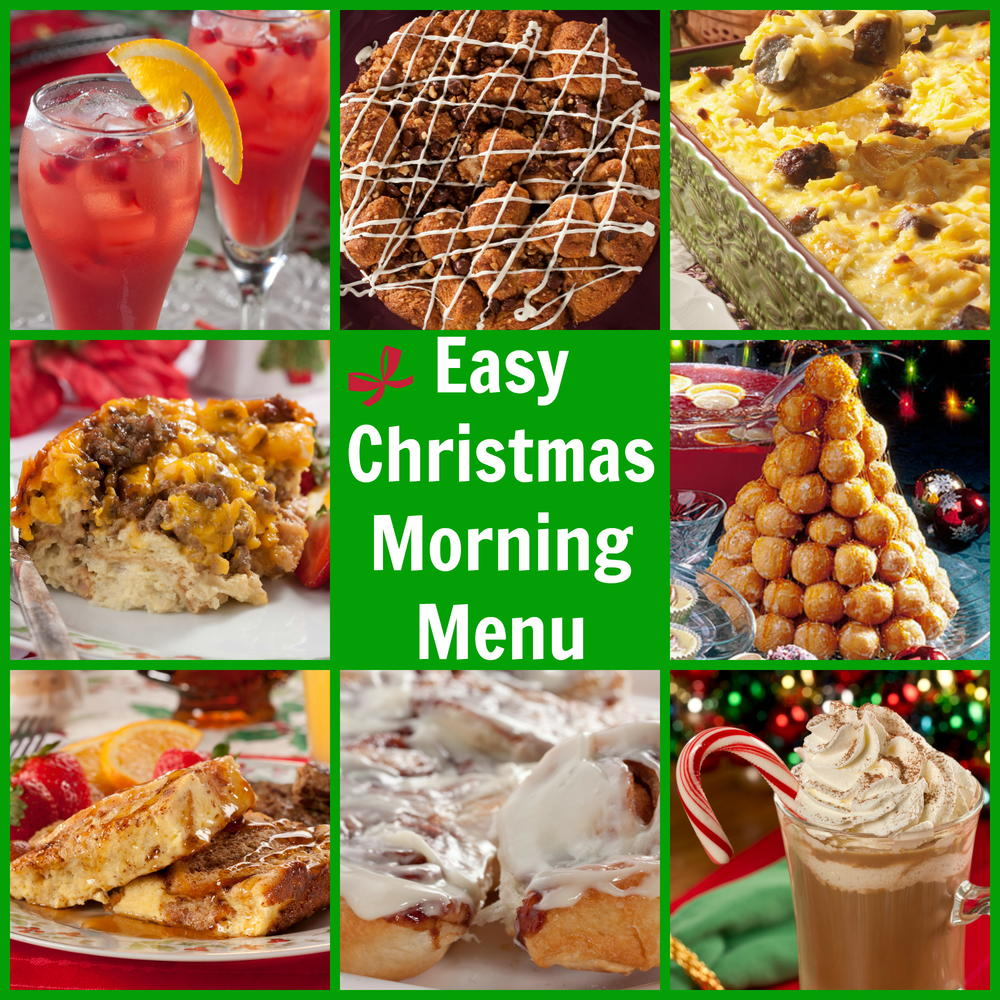 Easy Christmas Morning Menu: Christmas Breakfast Ideas