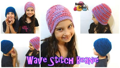 Wave Stitch Crochet Beanie