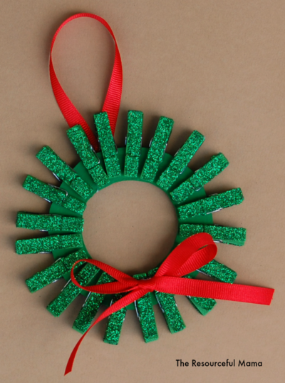 Free Christmas Clothespin Crafts